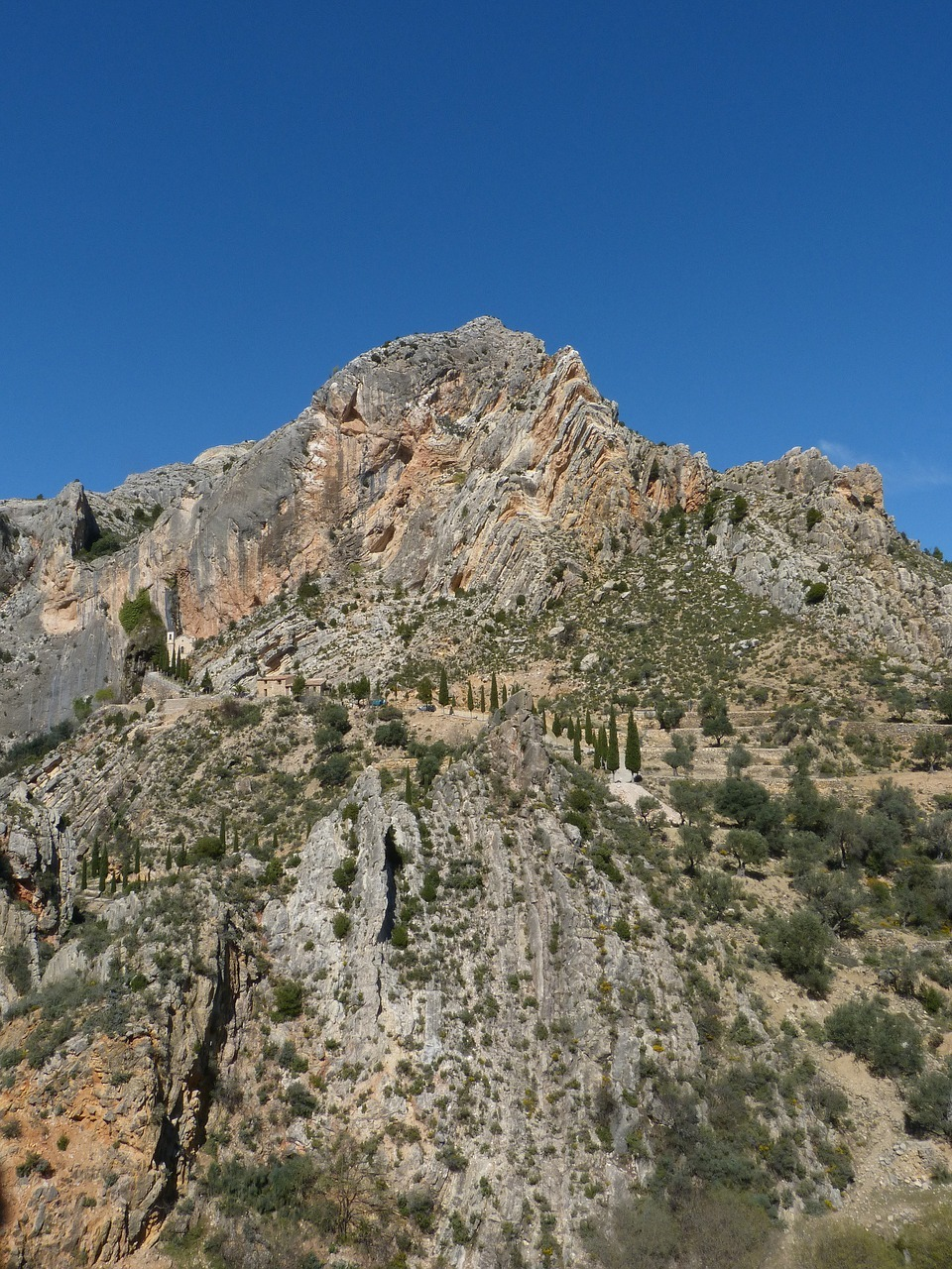 montaña, rocas, castellote