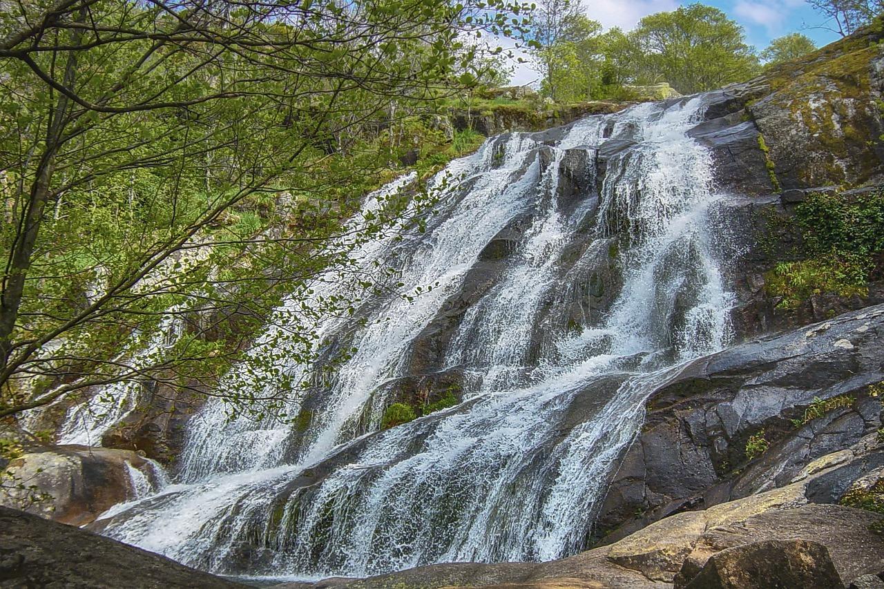 paisaje, cascada, naturaleza