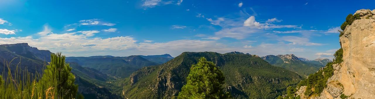 árboles, montañas, gama de la montaña