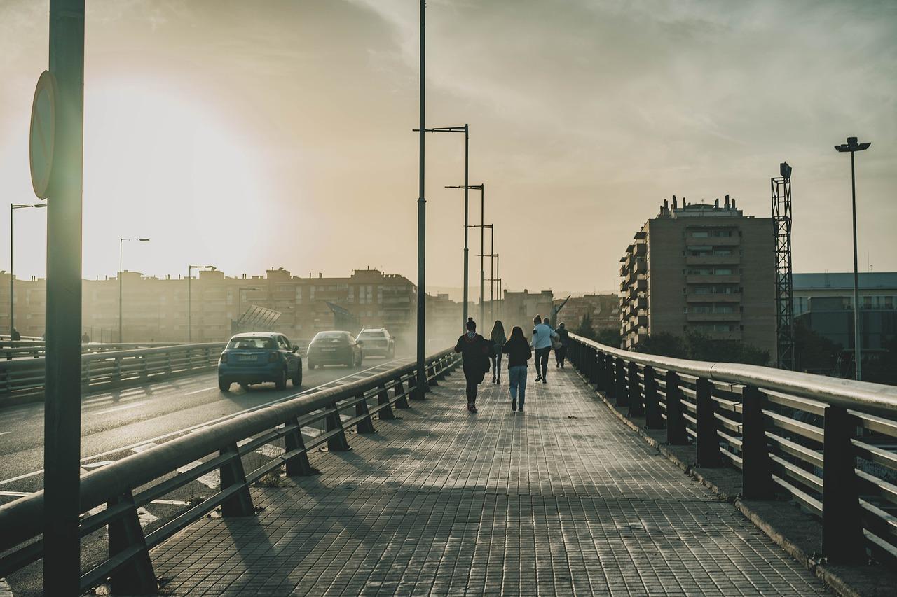 puente, por carretera, ciudad
