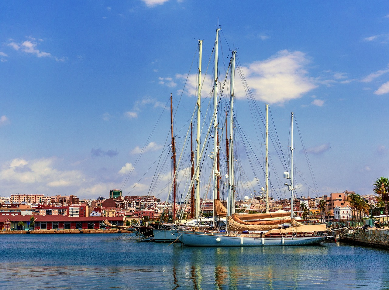 embarcaciones, puerto, mar